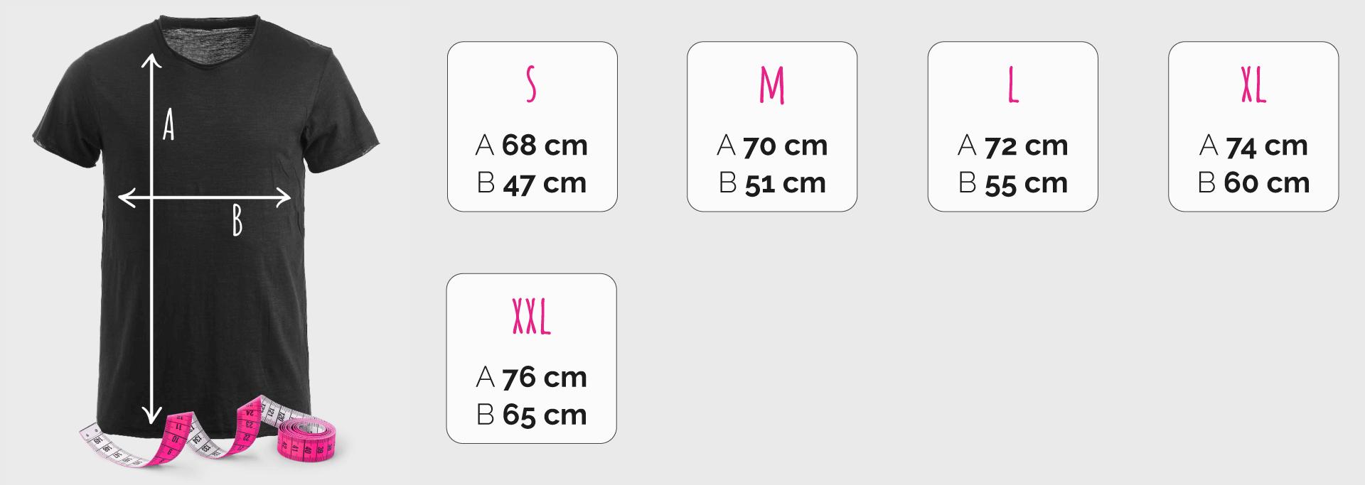 Creare magliette personalizzate online guida alle taglie a39aafd98bebe